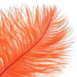 "Ostrich Drab Feathers - Orange (3""-6"")"