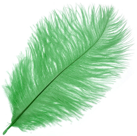 "Ostrich Drab Feathers - Green (3""-6"")"