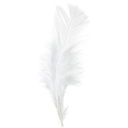 Marabou Fluff Loose Feathers - White (6g)