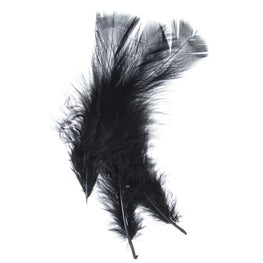Marabou Fluff Loose Feathers - Black (6g)