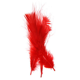 Marabou Fluff Loose Feathers - Red (6g)