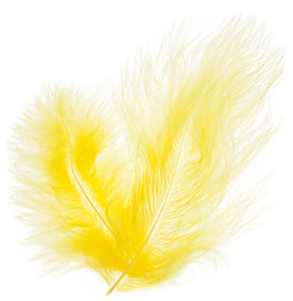 Marabou Fluff Loose Feathers - Yellow (6g)
