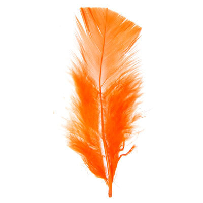 Marabou Fluff Loose Feathers - Orange (6g)
