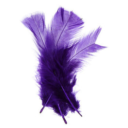 Marabou Fluff Loose Feathers - Purple (6g)