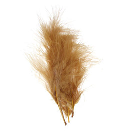 Marabou Fluff Loose Feathers - Brown (6g)