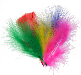 Marabou Fluff Loose Feathers - Multi Color (6g)
