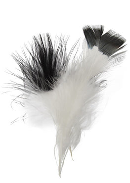 Marabou Fluff Dyed Tip Loose Feathers - Black (6g)