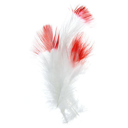Marabou Fluff Dyed Tip Loose Feathers - Red (6g)