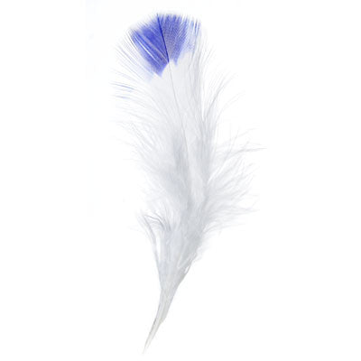 Marabou Fluff Dyed Tip Loose Feathers - Blue (6g)