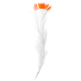 Marabou Fluff Dyed Tip Loose Feathers - Orange (6g)