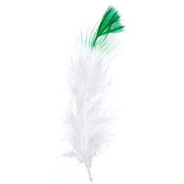 Marabou Fluff Dyed Tip Loose Feathers - Green (6g)