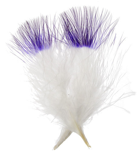 Marabou Fluff Dyed Tip Loose Feathers - Purple (6g)