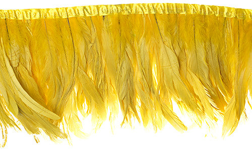 Rooster Tail Feather Trim - Yellow (8