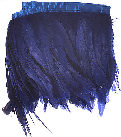 Rooster Tail Feather Trim - Blue (8