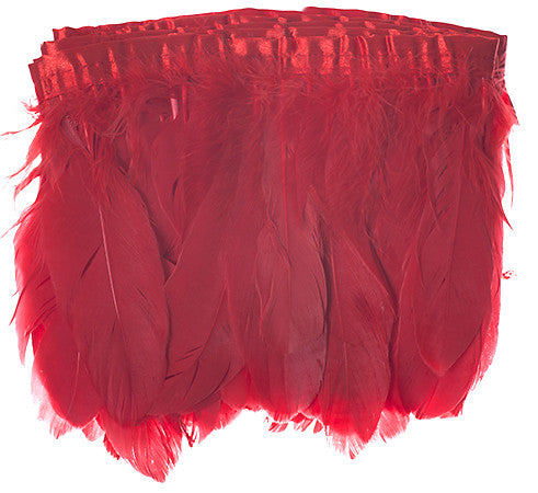"Goose Nagorie Feather Trim - Red (5""-7"")"