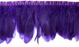 "Goose Nagorie Feather Trim - Purple (5""-7"")"