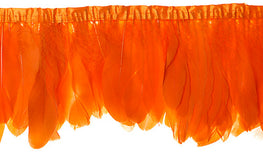 "Goose Nagorie Feather Trim - Orange (5""-7"")"