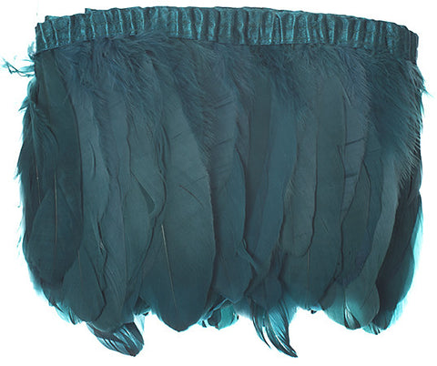 "Goose Nagorie Feather Trim - Emerald Green (5""-7"")"