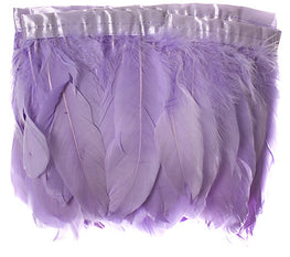 "Goose Nagorie Feather Trim - Lilac (5""-7"")"