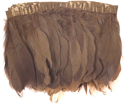 "Goose Nagorie Feather Trim - Brown (5""-7"")"