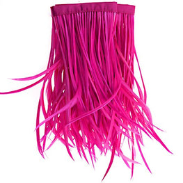 22in Biot Feather Trim - Hot Pink