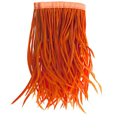 22in Biot Feather Trim - Orange