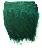 Coque Hackle Strung Feather Trim - Green