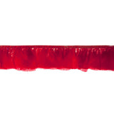 "Feather Trim - Turkey Marabou Fluff Feather Fringe Trim - Red (3""-4"") (1 yard)"