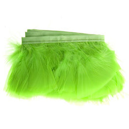 "Feather Trim - Turkey Marabou Fluff Feather Fringe Trim - Lime Green (3""-4"") (1 yard)"