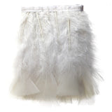 "Turkey Feather Trim - White (5""-6"")"
