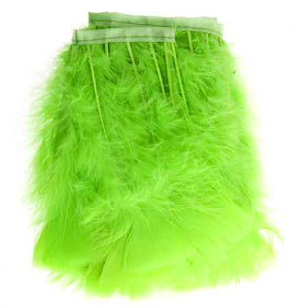 "Turkey Feather Trim - Lime (5""-6"")"