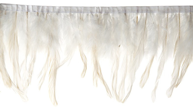 Marabou Fluffy Feather Trim - White (6