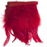 "Marabou Fluffy Feather Trim - Red (6""-7"")"