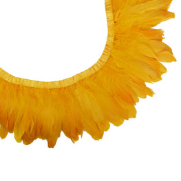 "Feather Trim - Goose Feather Satinette Fringe Trims - Tangerine - 5""-7"" (1 yard)"