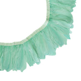 "Feather Trim - Goose Feather Satinette Fringe Trims - Mint - 5""-7"" (1 yard)"