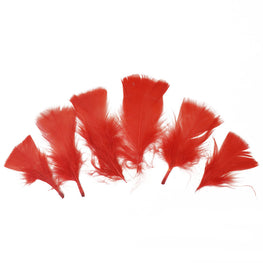 "Turkey Feathers - Handpicked Loose Turkey Marabou Feathers - Red - 2""-4"" (12pcs)"