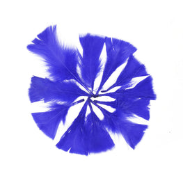 "Turkey Feathers - Handpicked Loose Turkey Marabou Feathers - Royal Blue - 2""-4"" (12pcs)"