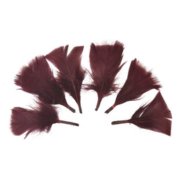 "Turkey Feathers - Handpicked Loose Turkey Marabou Feathers - Wine - 2""-4"" (12pcs)"