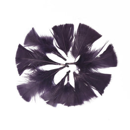 "Turkey Feathers - Handpicked Loose Turkey Marabou Feathers - Purple - 2""-4"" (12pcs)"