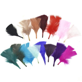 "Turkey Feathers - Handpicked Loose Turkey Marabou Feathers - Blush Pink - 2""-4"" (12pcs)"
