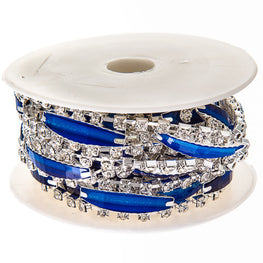 "0.5"" Narrow Resin Rhinestone Trim - Royal Blue"