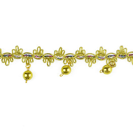 "1.5"" Beaded Fringe Trim - Gold"