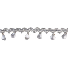 "1.5"" Beaded Fringe Trim - Silver"