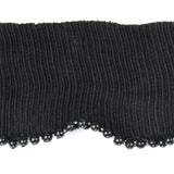 "Ribbed Trim - Beaded Edge Details Black (1.6"")"