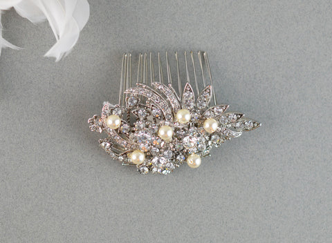 Bridal Comb with Pearls