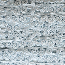 "0.8"" Starfish and Swirls Lace Trim - Light Blue"