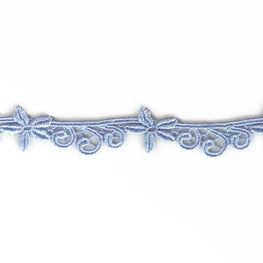 "0.8"" Starfish and Swirls Lace Trim - Blue"