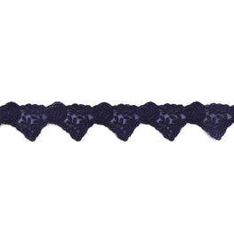"1.6"" Floral Lace Trim - Indigo Blue"