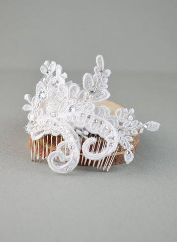 Swarovski Wired Lace Bridal Comb
