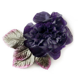 Millinery Flower - Vintage French Peony Artificial Flower - Purple (1pc)